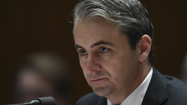 Commonwealth Bank CEO Matt Comyn at the House committee hearing 11.10.18. Picture: AAP