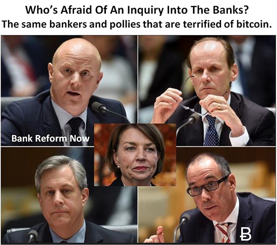 Australian Bankers Fear of Royal Commission