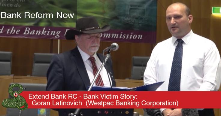 Bank Victims Horror Stories RC Goran Latinovich