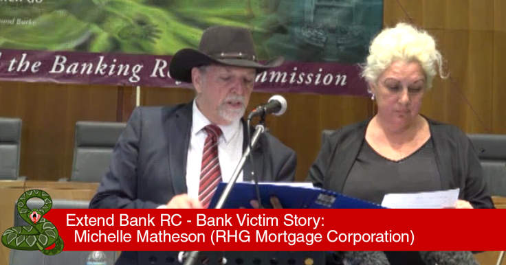 Michell Matheson - Extend Bank Royal Commission Parliament