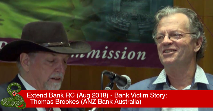 Thomas Brookes - Bank Victim Compensation Australia Royal Commission