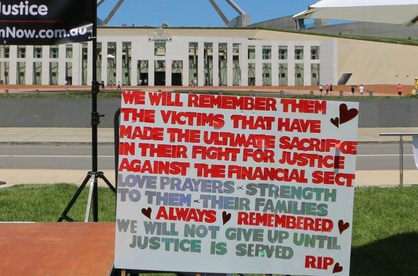 Bank Victims Lost Suicides - Remembered
