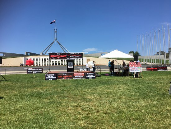 Banking Rally Canberra Bank Reform Now Australia