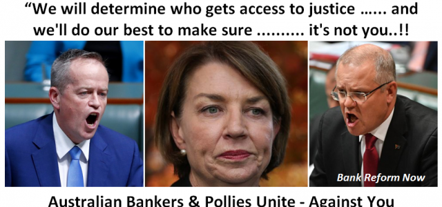 Bankers and Pollies Unite - Against You..!!