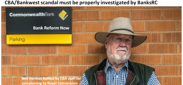 Neil Hermes upsets CBA with Bankwest complaint