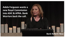 Adele calls for RC into ASIC and APRA