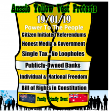 Aussie Yelow Vest Launch 19.01.19