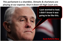 Malcom Turnbull - leader of dimwits & charlatans