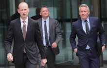 ANZ's Shayne Elliott leaving the Royal Commission - AAP David Crosling