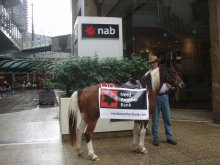Kim Hall and Dakota put the hoof into NAB